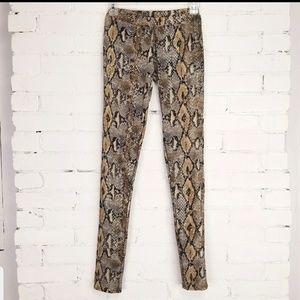 Decibel Snake Skin Leggings - Sequin Embellished